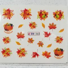 Fall Leaves Waterslide Decal (BN-363)