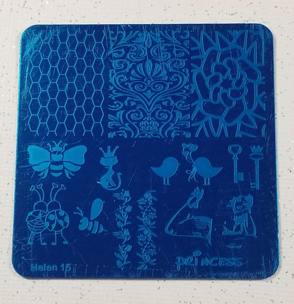 Stamping Plate (Helen 15) Bees, Ladybugs, Honeycomb