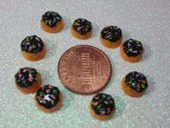 3D Food Doughnut #2 nail decoration (pack of 3)