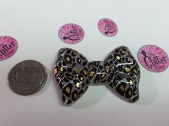 3D Bow #21. Silver & Gold Large Cheetah Bow (1 piece)
