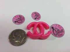 """3D Chanel """" CC"""" #1 Charm (1 piece)"""