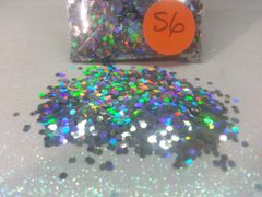 S6 Holographic Silver (.062) Solvent Resistant Glitter