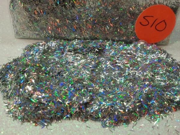 S10 Holographic Silver (Fibers) Solvent resistant