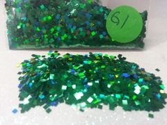 G1 Holographic Green Squares Solvent Resistant Glitter