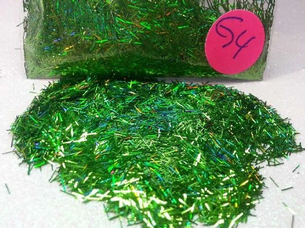 G4 Holographic Parrot Green Fibers Solvent Resistant Glitter