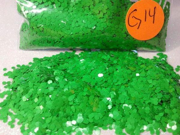 G14 Pastel Green (.062) Solvent Resistant Glitter