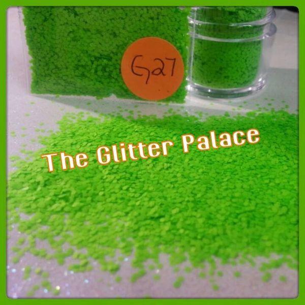 G27 Neon Green (.040) Solvent Resistant Glitter