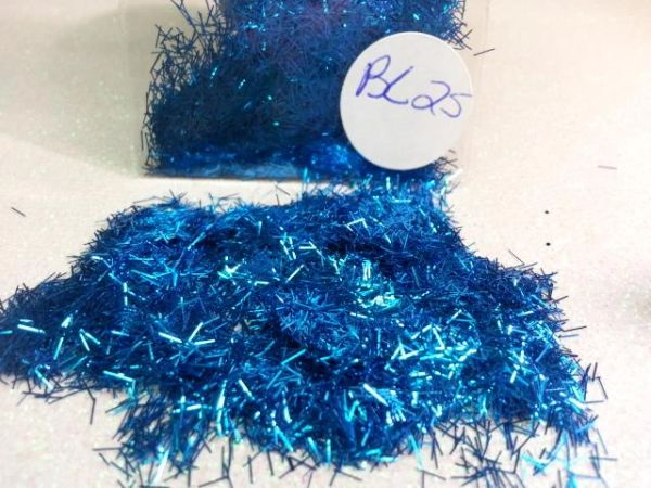 BL25 Royal Blue (Fibers) Solvent Resistant Glitter