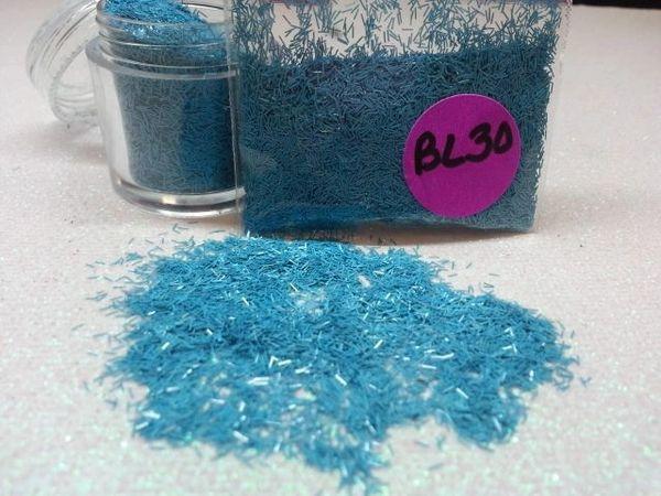 BL30 Argentina Blue (Fibers) Solvent Resistant Glitter