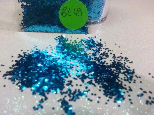 BL40 Ocean Blue (.025) Solvent Resistant Glitter