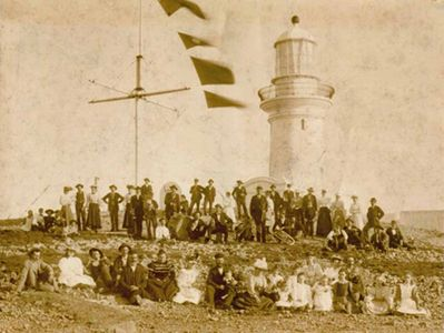 South Solitary Island Opening Ceremony 1880, Coffs Coast, New South Wales