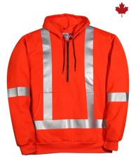Big Bill 1/4 Zip-Up Polartec® Wind Pro® FR Sweatshirt with Reflective Material; Style: RT26WP12