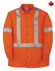 Big Bill 7 Oz. Tencate Tecasafe® Plus FR HiVis Dress Shirt; Style: 148BDTS7