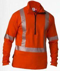 Big Bill 9.6 oz Polartec® Power Grid® FR 1/4 Zip Up Sweatshirt; Style: SRT29PS11