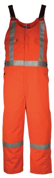 Big Bill 7 oz FR Tencate Tecasafe® Plus Unlined Bib Overall with Reflective Material; Style: 9038TS7