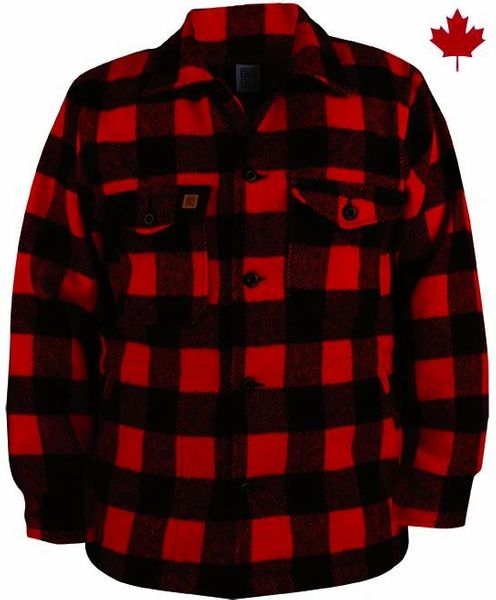 Big Bill 17 oz Plaid Wool Jacket; Style: 462