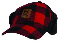 Big Bill Plaid Hat with Faux Fur Ear Flaps; Style: BBHHAT2