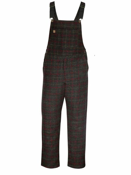 Big Bill 28 oz Charcoal Plaid Woodsman's Bib Overall; Style: 190