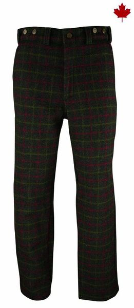 Big Bill 28 oz Charcoal Plaid Wool Pant; Style: 210