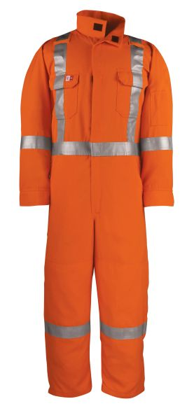 Big Bill 7 oz Work Coverall Unlined FR Tencate Tecasafe® Plus with Reflective Material; Style: 1698ZTS7