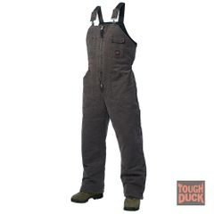 Tough Duck Washed Lined Bib Overall with Full Leg Zips; Style: 75371B