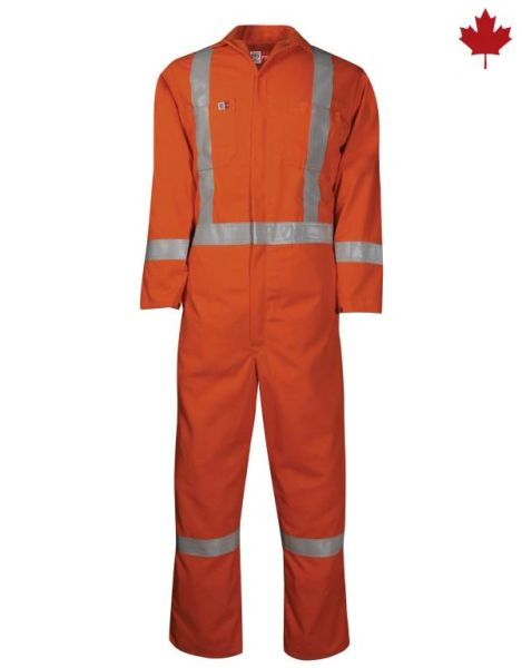 Big Bill 7 oz Westex Ultrasoft FR Coveralls with Silver Striping; Style 408US7