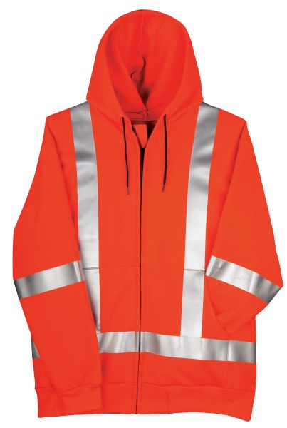 Big Bill 14.25 oz Flamex® FR Full Zip Hooded HiViz Sweatshirt; Style: RT17IT14