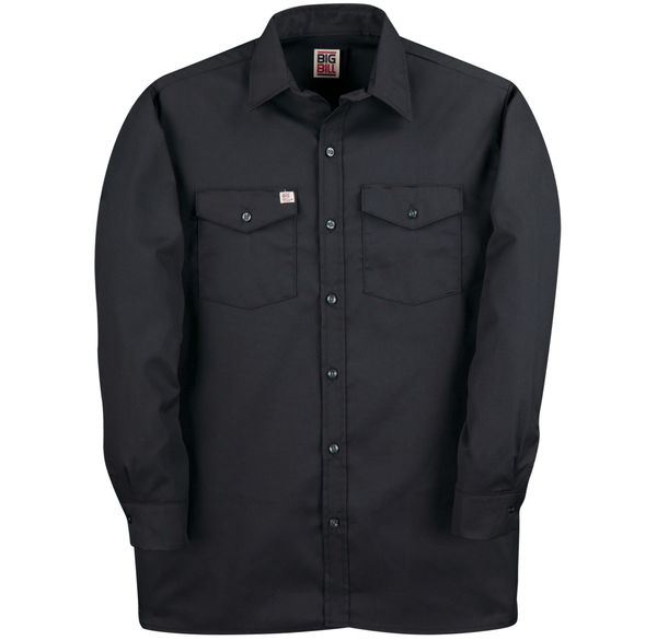 Big Bill Long Sleeve Button Front Closure Work Shirt; Style: 147
