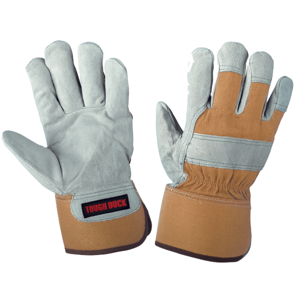 Tough Duck Cow Split Leather Fitters Glove - Palm Lined; Style: Gi5606
