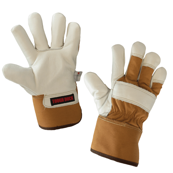 Tough Duck Premium Cowgrain Fitters Glove – Palm Lined; Style: Gi8606
