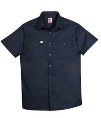 Big Bill Front Button Closure Short Sleeved Work Shirt; Style: 137