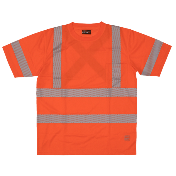 Tough Duck S/S Safety T-Shirt with Segmented Stripes; Style: ST07