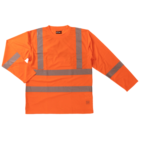 Tough Duck L/S Safety T-Shirt with Segmented Stripes; Style: ST08