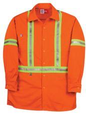 Big Bill 7 oz Westex™ Ultra Soft® Hiviz Industrial Work Shirt; Style: 235US7