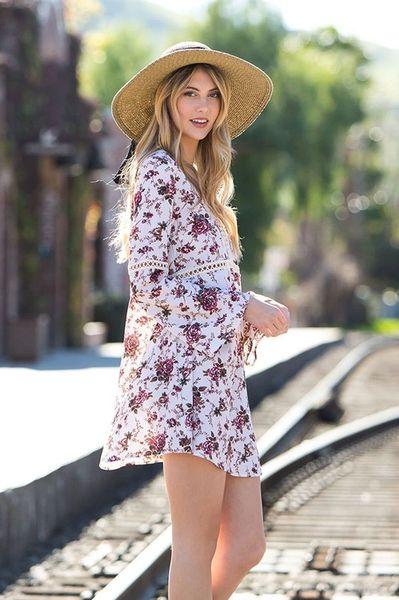 Sunday Stroll Floral Dress