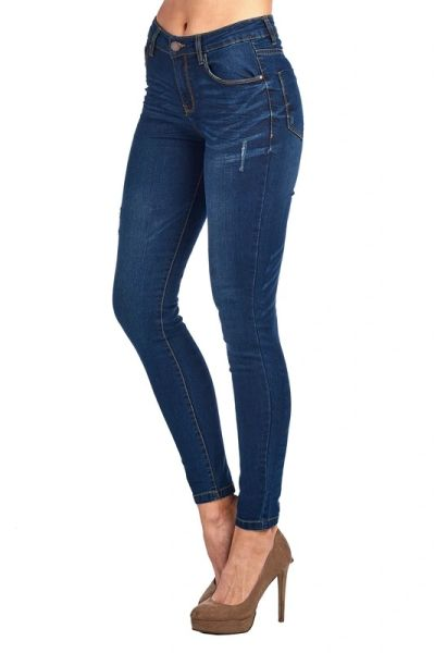 Medium Wash Simple Skinny Jeans