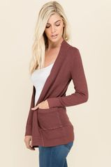 Open Front Ultra Soft Knit Sweater Cardigan with Pockets - MULTIPLE COLORS