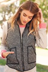 Herring Bone Quilted Vest