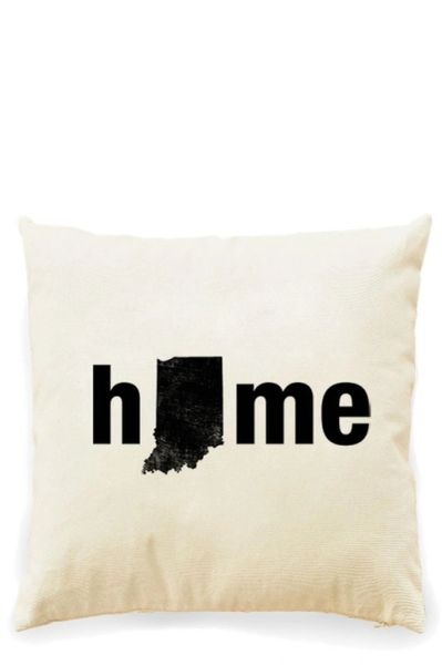 Home State Decorative Throw Pillows - Multiple Patterns Available