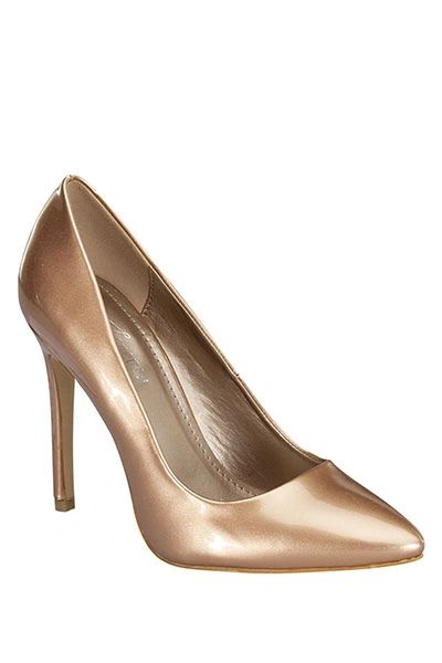 Katelynn Gold Metallic Pumps