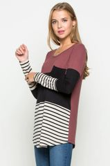 Color Block and Stripe Tunic