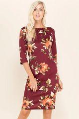 Burgundy Ultra Soft Midi Dress