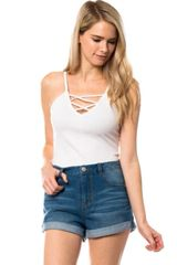 Bonsai Sands Cuffed 'Mom' Jean Shorts