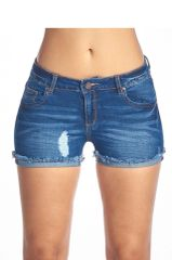 Meet me on the River Destructed Denim Cut off Shorts