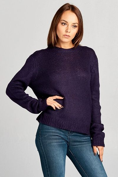 Lexi Luxury Crew Neck Chunky Knit Sweater