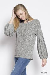 Bubble Sleeve Ultra Soft Knit Sweater