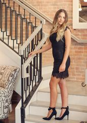 Full Lace Fitted Cocktail 'Little Black Dress'