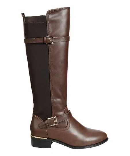 Maya Riding Boots with Metal Buckle Accents