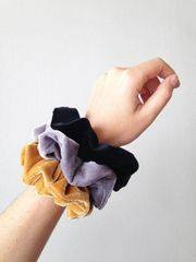 Hot Line Hair Ties Velvet Scrunchies