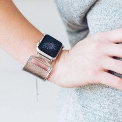 Original Coco Hammered Large Cuff Design Apple Watch Adjustable Band
